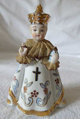 "Vintage Lefton Dresden Lace  ""INFANT OF PRAGUE"" Figurine and Prayer Pamphlet"