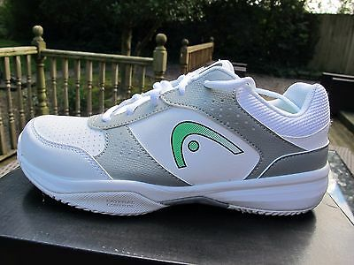 the best attitude 1af45 4747a Head Lazer Junior Tennis All Court Shoes Trainers - White 3-5 UK JNR