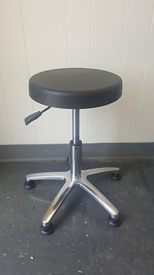 Stable Base Black Stool Adjustable Seating Lab,Office,Home,Business,Shop Stool
