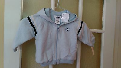 Dior New Jacket With Zip & Hood Cotton Lined Pale Blue  12 Mths £15