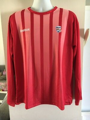 Long Sleeve Adelaide United FC Football Soccer Jersey, Size Large