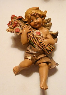 "FONTANINI ITALY 5.0"" Cherub Angel Figurine AUTUMN from 4 Seasons Set 857"