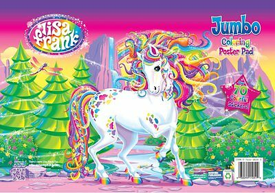 Lisa Frank Jumbo Coloring Poster Pad with Over 70 Colorful Stickers!