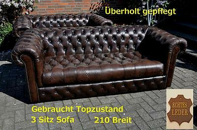 Chesterfield Traditionell  3Sitz Sofa buttoned all over/geknöpfter Sitz