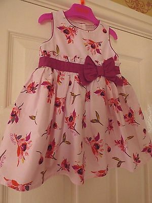 Ted Baker Baby Girls 12-18 months Beautiful Pink floral Net Occasion Party Dress