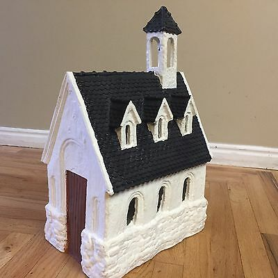 Dept 56 Merry Makers Paper Mache Church Display Piece 1993 # 93599 Retired