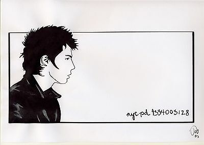 Original Ink Drawing of Sid - Artist Unknown