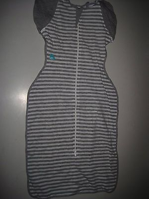 Love To Dream Swaddle UP- 50/50- Gray Stripe- Large 18.7-24.3 lbs