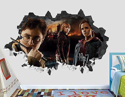 Harry Potter 7 HP7 Decal Sticker Vinyl Decor Smashed Wall Mural AH79