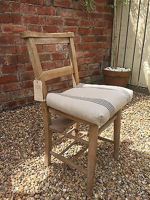 A Lovely Vintage Church/Chapel Chair With Hymn Book Shelf