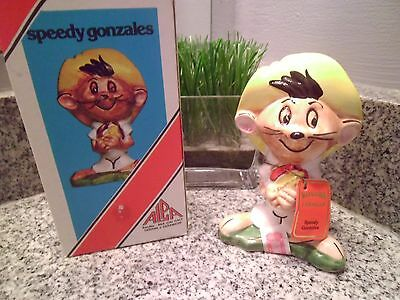 Vintage Carosello Warner Brothers Decanter Hand Painted Italy Speedy Gonzales