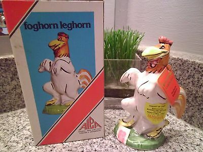 Vintage Carosello Warner Brothers Decanter Hand Painted Italy Foghorn Leghorn