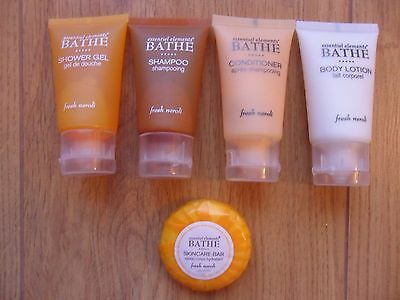 Essential Elements 5 piece toiletry travel set. NEW. Neroli scent.