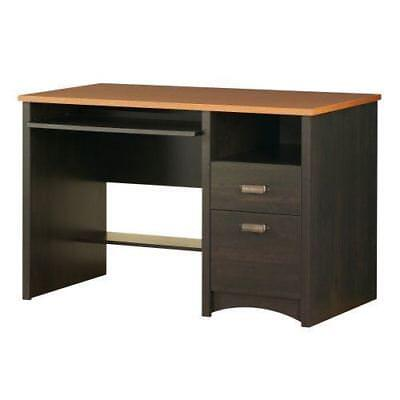 South Shore Furniture Gascony Collection, Desk, Ebony and Spice wood