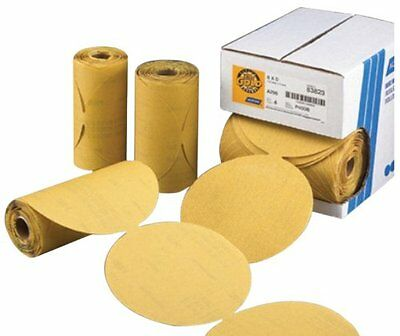 """Norton 83815 Gold Reserve 6"""" P80 PSA Sticky Paper Disc Roll, (100 Discs/Roll)"""
