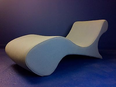 Vintage Retro Wool Chaise Lounge Daybed Couch Chair Sofa