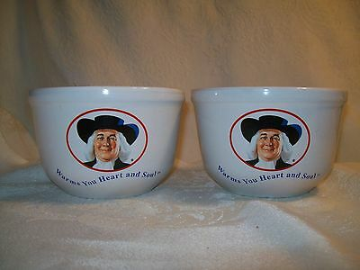 """Vintage 1999 Quaker Oat 20 0z., 2 1/2 Cup """"Warms You Heart and Soul"""" Bowls"""