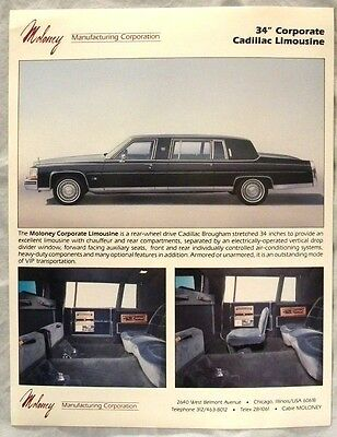 Moloney Mfg. Corp. Advertisement  34' Corporate Cadillac Limousine