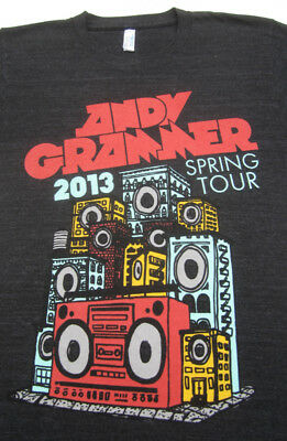 ANDY GRAMMER spring 2013 tour SMALL concert T-SHIRT