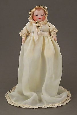 """6"""" Doll With Cloth Body &  Bisque Hands & Head W/ Flange-Neck Like A Bye-Lo Baby"""
