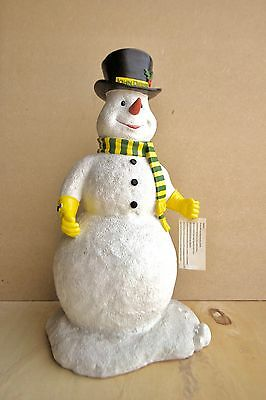 """Collector's John Deere Holiday Snowman 20"""" H willing to negotiate"""