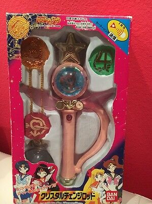 Sailor Moon SuperS Crystal Change Rod Bandai Rare figure doll toy wand VG