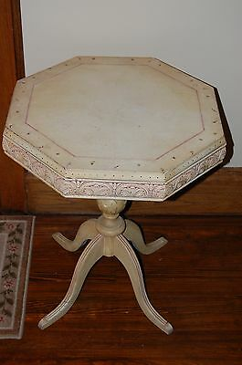 Vintage hand painted Coffee Table and Octagon Table
