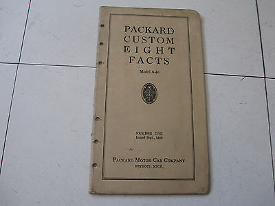 1928 Packard Custom 8 Facts Brochures (2) Original All Types Nice Condition Old