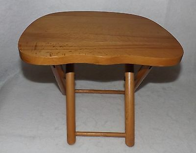 Vintage Nevco Wood Stool Fold and Carry Yugoslavia Camping Tail Gate