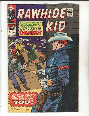 1960s RAWHIDE KID Lot #53, 56 to 59 Classic Marvel Westerns Nice Copies