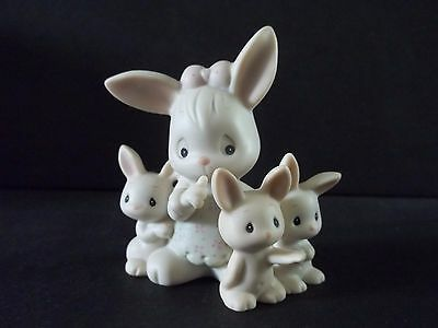"Precious Moments figurine ""SOME BUNNY'S SLEEPING"" 115274 with box & shelf tag"
