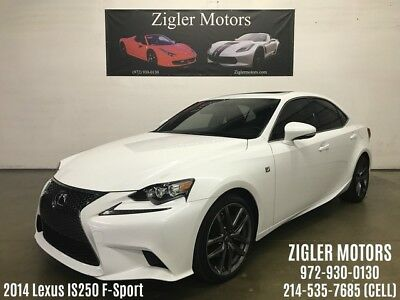 2014 Lexus IS  2014 Lexus IS 250 F-Sport White/Red One owner Clean Carfax