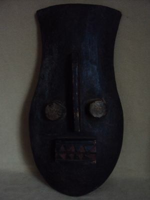 SALE - WAS $125  LARGE GOLI MASK African Carving Statue!!