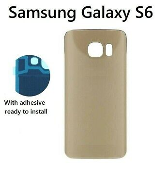 For Samsung Galaxy S6 G920 Back Battery Cover Glass Housing Replacement Gold