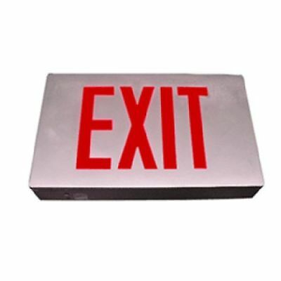 Die-Cast Exit Sign / RED/Battery Back-Up / E3DRR