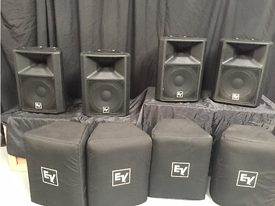 "4 x EV SX300 12"" 2-way passive speakers /monitor"