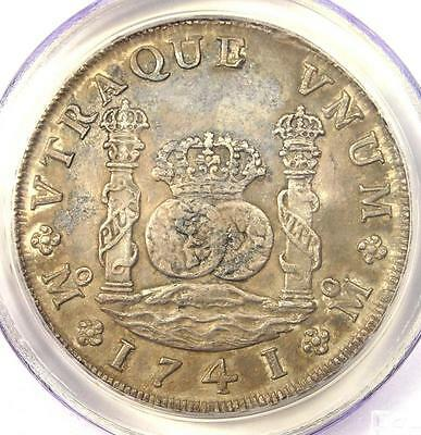 1741-MO MF Mexico Pillar Dollar 8 Reales (8R) - PCGS XF Details  - Rare Coin!