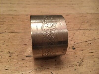 Antique Silver Napkin Ring Etched & Horse Mark