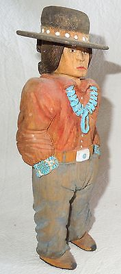 NAVAJO Carving *LARRY LAWRENCE JACQUEZ* Incredible Detail Wood 1994 8.5 Inch