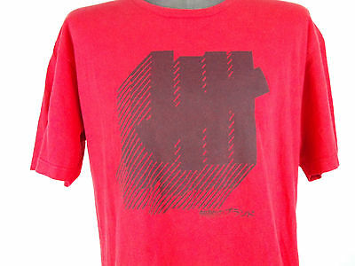 Men's Undefeated Short Sleeve T-Shirt SZ L Red/Black Logo 100% Cotton Street