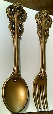 Vintage 1973 Homco Set Of  Fork & Spoon Wall Decoration