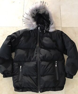 Christian Dior Boys Black Goose Down Hooded Jacket Size 12