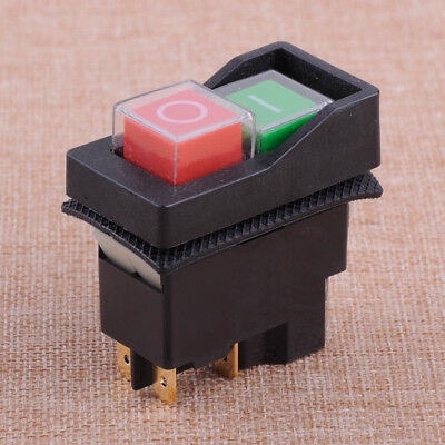 4 Pin 250V KJD17 IP55 Start Stop On Off Release Switch Fit For Workshop Machines