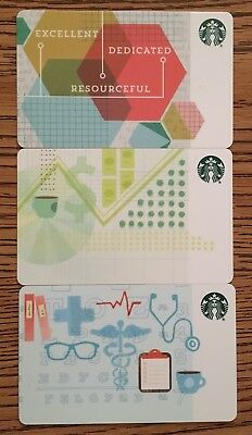 Starbucks 2016  Corporate B2B 3 Card Set Lot