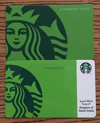 Starbucks KSA Kingdom Of Saudi Arabia Siren  Turkey Instruction Card Set Lot