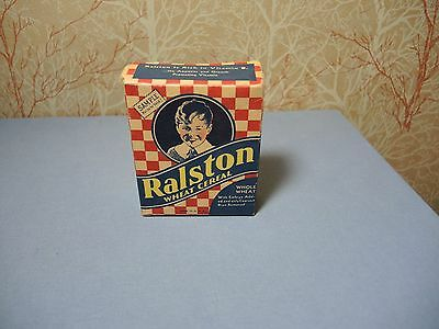 Nice Vintage 1930's Ralston Purina Single Serving Wheat Cereal Sample Size Box