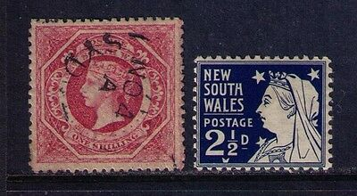 New South Wales Stamps, Sc# 42&104 Used/MLH Cat.$28