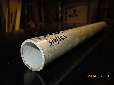 "Stainless Pipe 316/316L 1-1/4"" pipe size x.130 wall x 11-5/16"" Seamless"