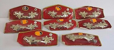 Vintage Ornate Victorian Set of 8 Drawer Pulls Handles Still in Package Canada