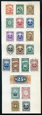 Peru 1866-1874 (21) Banknote Plate Proofs On India (16 // 28) Ex-Green Wlm4107
